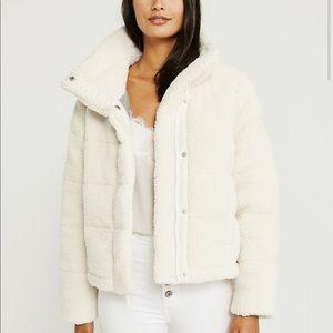 Mini Sherpa puffer jacket from Abercrombie
